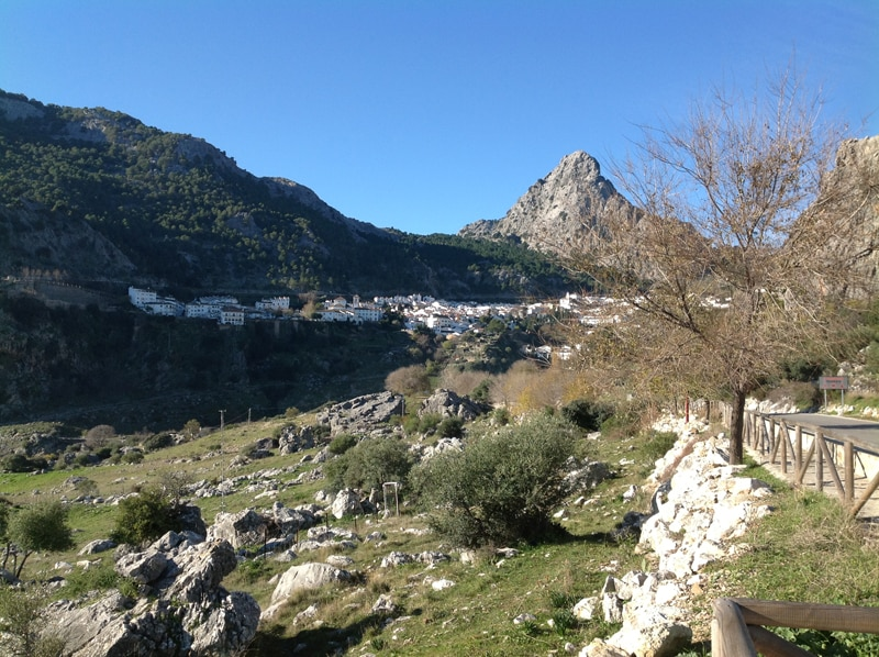 View of the white town Grazalema