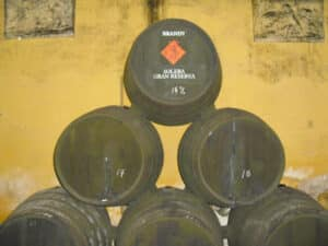 Butts containing Jerez brandy