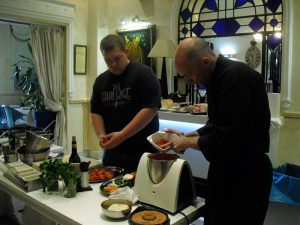 Cooking classes in restaurant
