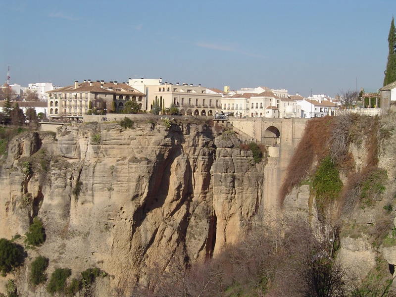 View of the white town Ronda
