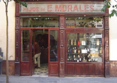 Entrance to a tapas bar in Seville