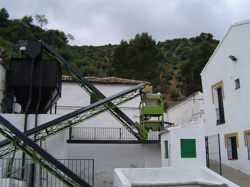 Outside view of traditional olive mill Zahara de la Sierra