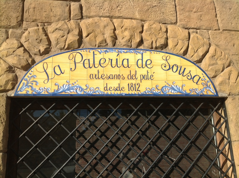 Shop sign of a paté and foie grass producer