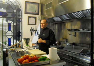 Chef expalaining during our cooking classes