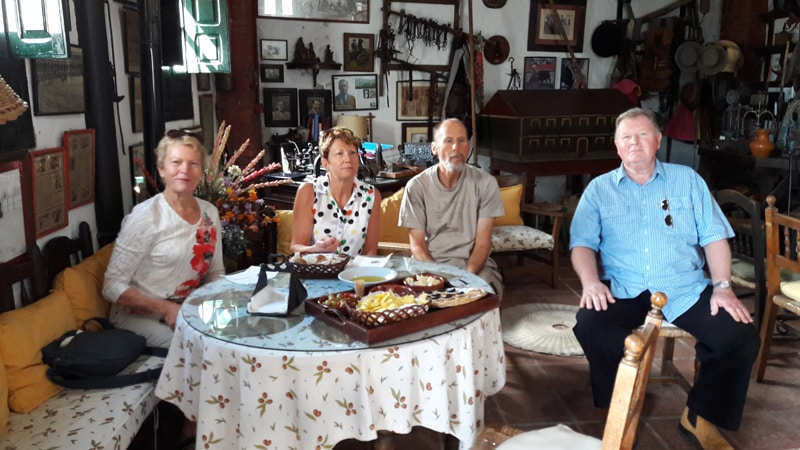 A group tasting at an olive mill Zahara de la Sierra